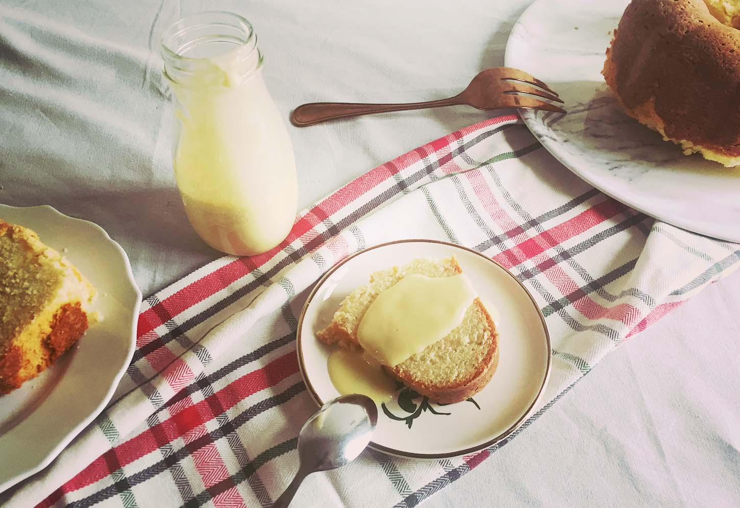 boiled custard with orange scented pound cake